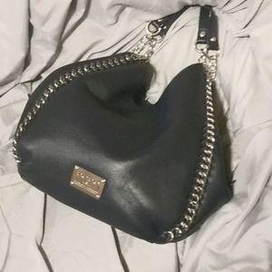 Bebe original navy hobo bag w silver h.ware